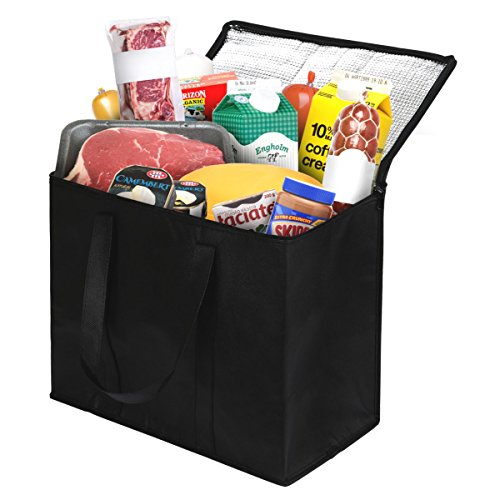 2 Pack Insulated Reusable Grocery Bag, Extra Large Size, Stands Upright, Collapsible, Sturdy Zipper by NZ Home (Image #6)