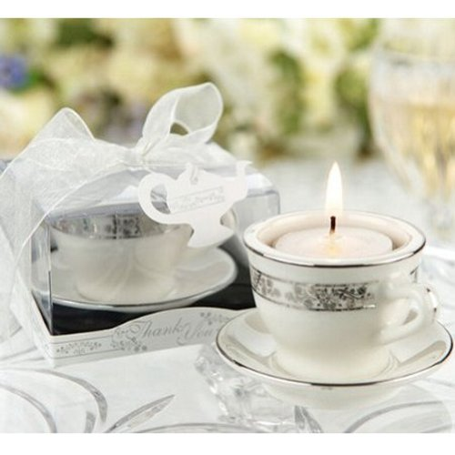 Teacups and Tealights Miniature Porcelain Tealight Holders (pack of 30) (Bridal Miniatures)