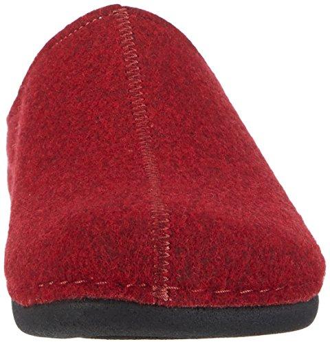 Berkemann Lorena - zuecos de fieltro mujer rojo oscuro (dunkelrot 258)