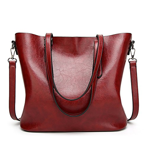 Messenger Dark Red Soft Hot Women's Tote Bag PU SUNROLAN Top Hobo Leather Handbags Shoulder Satchel Handle Bag g4wfqBS8x