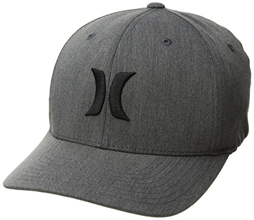 Hurley Men's Black Textures Baseball Cap, Melange, L-XL