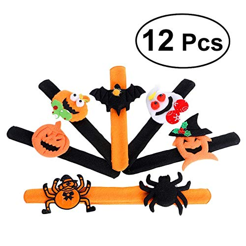 Party Diy Decorations - 12pcs Spider Pumpkin Slap Bracelet Snap Slip Wristband Band Wrist Decoration - Decorations Party Party Decorations Bracelet Ruler Wood Easter Wrist Halloween Pumpki