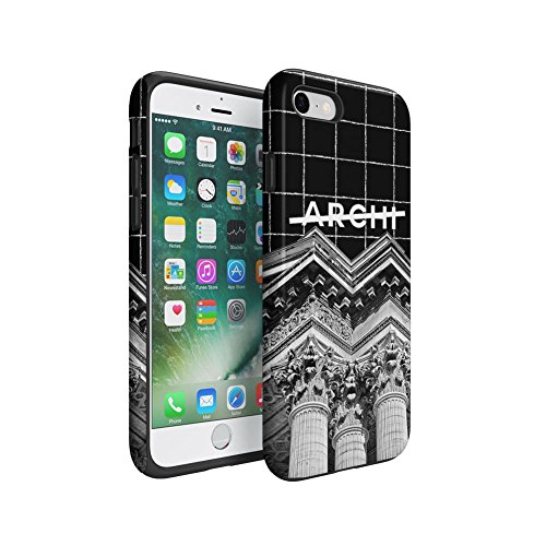 Not Archi Architect Paris Pantheon Apple iPhone 7 Silicone Inner / Outer Hard PC Shell Hybrid Armor Protective Case (Pantheon Shell)