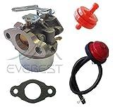 New Replacement Carburetor Fits Tecumseh Craftsman Mtd Snowblower Snowking 5hp Carburetor Primer Bulb & Filter