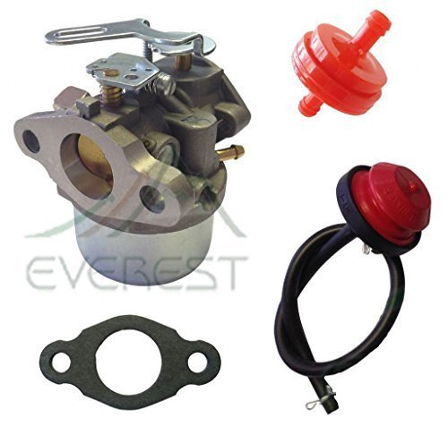 NEW REPLACEMENT CARBURETOR FITS TECUMSEH CRAFTSMAN MTD SNOWBLOWER SNOWKING 5HP CARBURETOR PRIMER BULB & FILTER