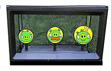SOFT DART bb airsoft nerf gun COMPATIBLE AUTO RESET TARGET WITH NET CATCHER  - ANGRY BIRDS