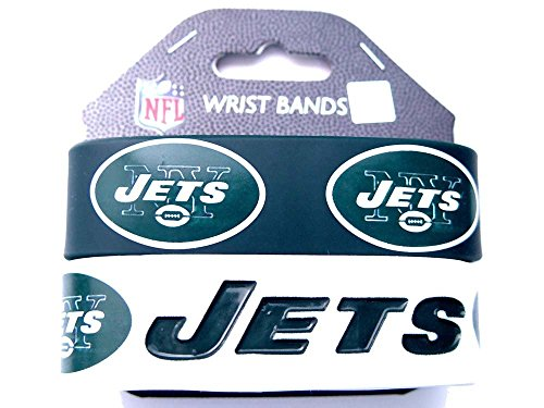 NFL New York Jets Silicone Rubber Bracelet, 2-pack