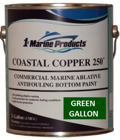 Copper 250 Ablative Antifouling Bottom Paint GREEN GALLON ()