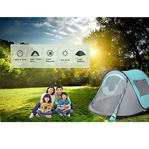 VITCHELO Automatic Instant Pop Up Tents for C&ing Suitable for 2 to 3 Man. Easy Set Up Dome Tent Waterproof u0026 Heat-Resistant. Sun Shelters Suitable for ...  sc 1 st  Trek-O-Hike & VITCHELO Automatic Instant Pop Up Tents for Camping Suitable for 2 ...