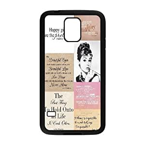 Audrey Hepburn Quotes The Unique Printing Art Custom Phone Case for SamSung Galaxy S5 I9600,diy cover case ygtg-780807