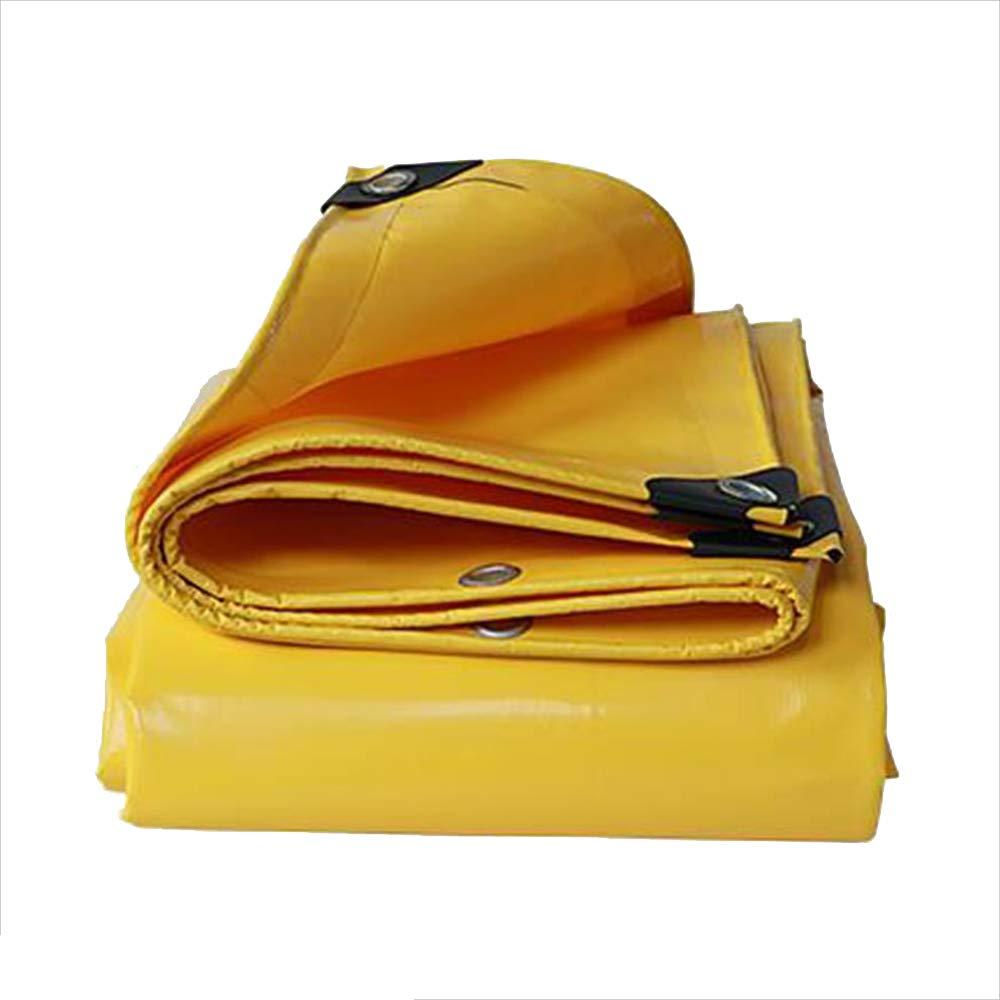 Bache YNN imperméable Robuste 0.05mm 500g   m étanche (Couleur   jaune, Taille   6X 7m) jaune 6x 7m