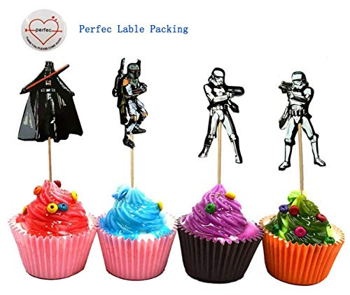 Star Wars Theme Cupcake Toppers Party Pack for 24 Cupcakes