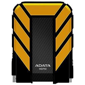 A-Data 500GB DashDrive Durable HD710 - Disco duro externo de 500 GB, negro y amarillo
