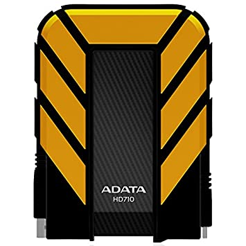 "ADATA DashDrive External 2.5"" 1TB USB 3.0 Portable Black Drive - Shockproof and Waterproof - USB Powered (Black / Yellow / Blue) Image"