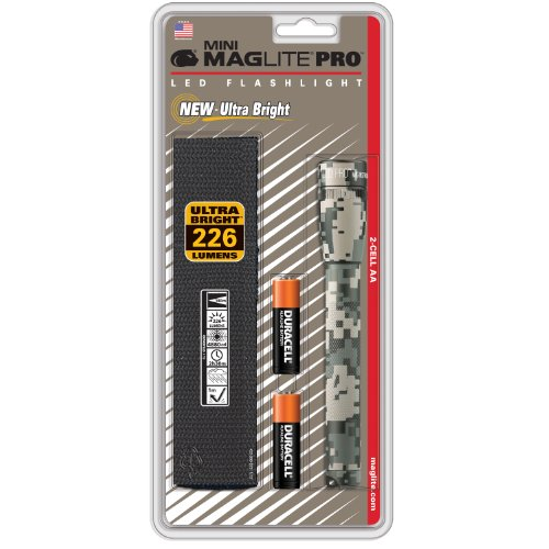 Maglite Mini PRO LED 2-Cell AA Flashlight Universal Camo Pattern