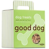 Sojos Good Dog Crunchy Natural Dog Treats, Apple Dumpling, 8-Ounce Box
