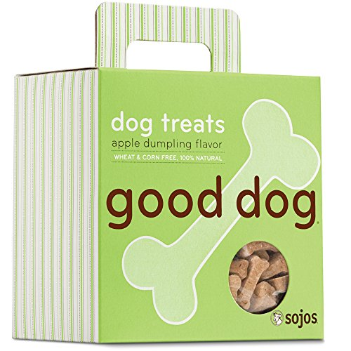 Sojos Good Dog Crunchy Natural Dog Treats, Apple Dumpling, 8-Ounce Box (Dog Dumpling)