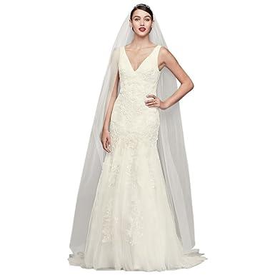 a47ba6151f037 Pearl-Beaded V-Neck Mermaid Wedding Dress Style CWG795 at Amazon Women's  Clothing store: