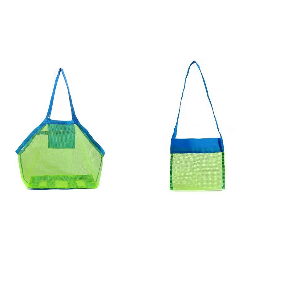 Starsglowing playa los niños del bolso bolsa de almacenamiento de juguetes de playa bolsillo de malla bolsa de bolsa de playa para la playa de viaje de la natación