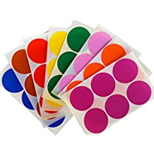 "Royal Green Colored Sticker for All-Purpose Use in Office, Home, School 2"" Label Rounds Dots, Red/Blue/Green/Yellow/Purple/Orange/Brown/Pink, 48 Count"