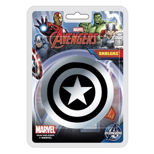 - Marvel Captain America Shield Emblemz Chrome Decal