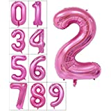 40 inch Big Numbers 0-9 Balloons Helium Foil Mylar Digital Large Number 2 Balloons Birthday Party