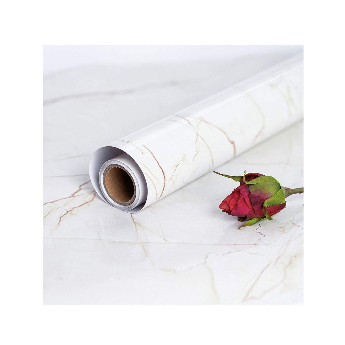 45 cm × 200 cm Marble Contact Paper Film Peel and Stick Countertops Vinyl Wallpaper Sticker Contact Paper Self Adhesive Wallpaper Shelf Liner Table and Door Reform Sheet of Vinyl with Adhesive Re-finished Kitchen Countertop Marble Paper Marble Sticker Mar