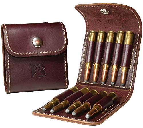 Bandera USA Leather Ammo Case - Brown - 10 Regular Loops