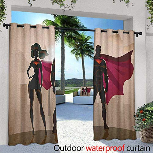 Superhero Curtains for Living Room Super Woman and