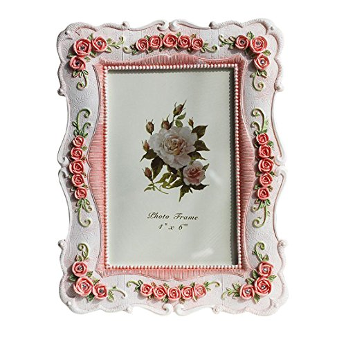 European Style Vintage Picture Frames Rose Pattern 4x6 '' by Baidecor