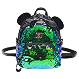 Bags us Women Girls Kids Dazzling Sequins Backpack with Cute Ears Schoolbag Shoulder Bag Satchel
