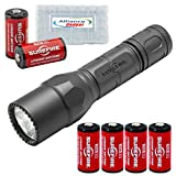 Surefire G2X Pro 320 Lumen Dual-Outputs LED Flashlight with 4 Extra CR123A Batteries and Alliance Gadget Battery Case