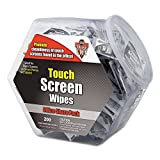 Dust-Off DMHJ Touch Screen Wipes, 5 x 7 3/4, 200 Individual Foil Packets