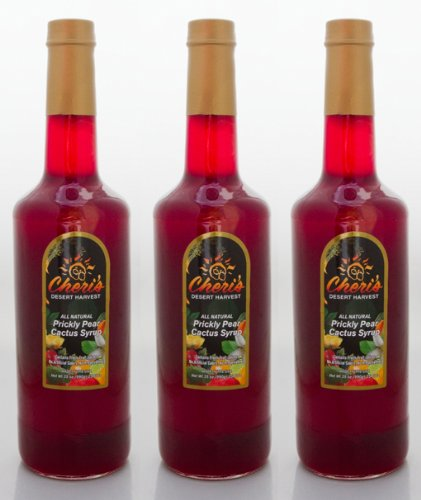 Cheri's Desert Harvast Prickly Pear Syrup - 35 oz (Pack of 3)