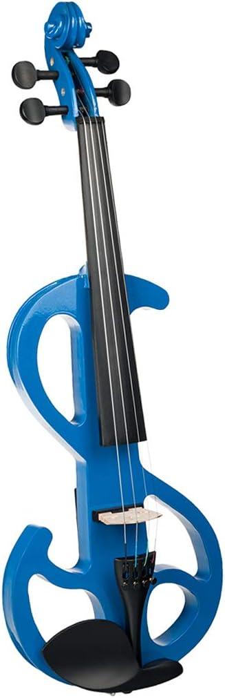 4/4 Violín Eléctrico Silencioso Guitarra Clásica de Madera con Estuche Rígido Auriculares para Jugadores Avanzados de Violín: Amazon.es: Instrumentos musicales