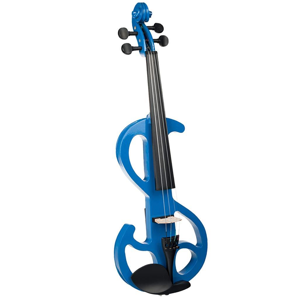 Homyl 1 Set 4/4 Electric/Silent Violin Blue Concert Gig Stage Performance Accessory