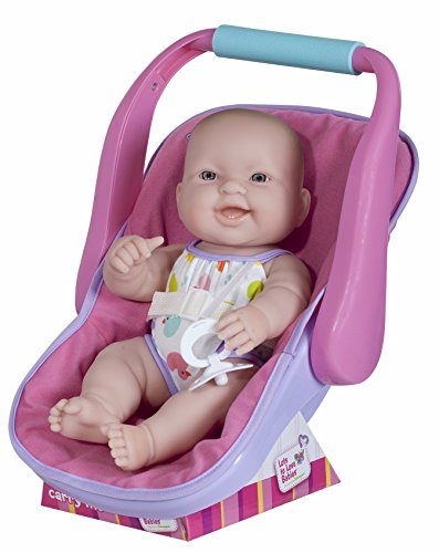"JC TOYS LOTS TO LOVE BABY DOLL IN ADJUSTABLE CARRIER - Featuring 14"" all Vinyl doll - Perfect for Children 2+ (Vinyl Dolls Plastic)"
