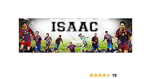 Personalized FC Barcelona Sports Banner Birthday Poster Custom Name Painting Wall Art