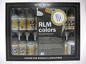 Vallejo Model Air Set - RLM Complete Set (15 x RLM + Matt Varnish)