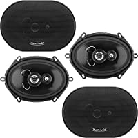 Planet Audio TQ573 Anarchy Series 3-Way 400 Watt 5 x 7 Coaxial Car Speaker (2 pairs)