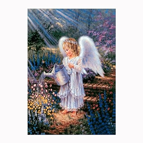 Fabal Diy Diamond Painting Portrait Series Diamond Embroidery Angel 3D Square Diamond Mosaic Icons Full Embroidery Rhinestone (A)