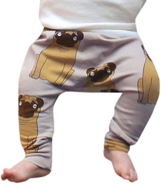 Child Baby Bottoms Casual Trousers Cotton Cute Pants Kids Boy Easticity Leggings