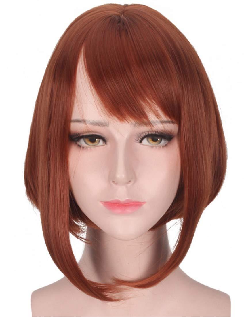 Amazon.com  Women s Red Brown Cosplay Wig for My Hero Academia Ochako  Uraraka 708a964577