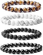 Set of 4 bracelets for men of high quality stones