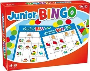 Tactic Junior Bingo Niños y Adultos Juego de Azar - Juego de ...