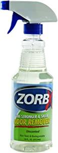 ZORBX Unscented Multipurpose Odor Remover –Safe for All, Even Children, No Harsh Chemicals, Perfumes or Fragrances, Stronger and Safer Odor Remover Works Instantly (16oz)