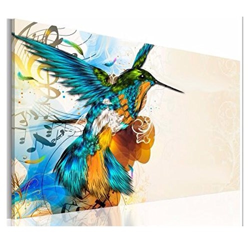 Decorative Painting - 75x50cm Colorful Fly LarkNote Wall Portrait Painting Frameless Picture Home Decoration - Lark Painting - - Pictures Kamehameha