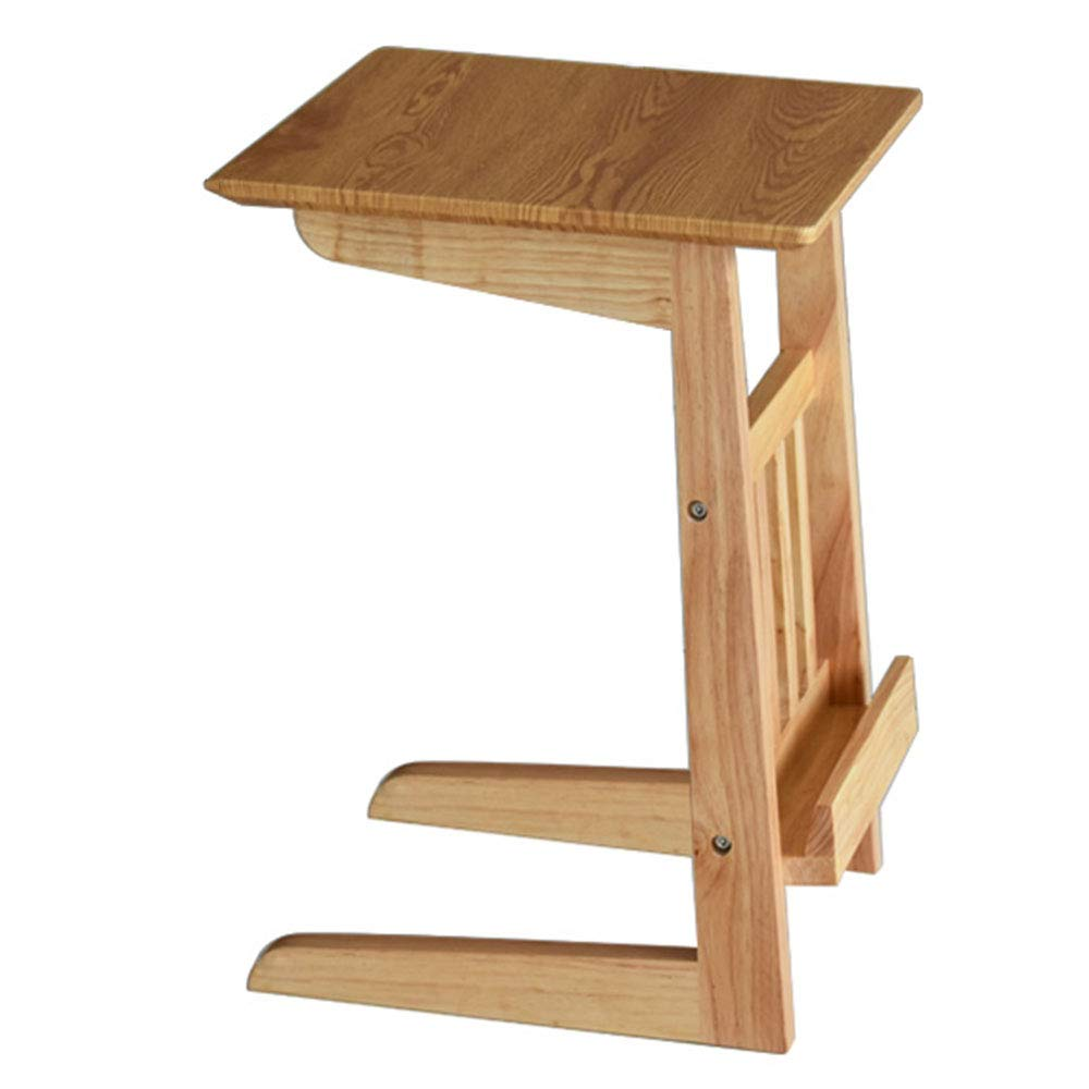 LJHA bianzhuo Side Table, Solid Wood Reinforce Creative Side Table/Modern Stable Bedroom Practical Bedside Computer Desk/Living Room Sofa Side Table Bedside Tables (Color : B) by GYH End Table