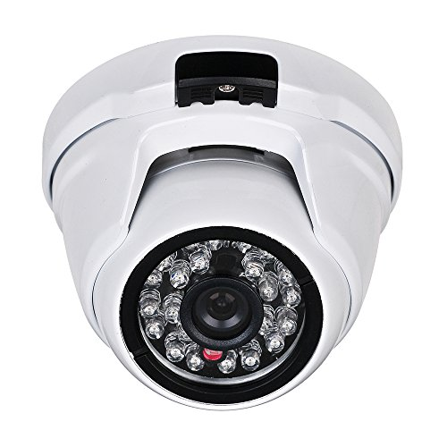 Eversecu 2.4MP (HD-TVI/AHD/CVI/Analog) 4-in-1 1080P CMOS Outdoor Metal Dome Camera, Day Night Vision Security IR Analog Camera, Vandalproof Dome Camera for Home Video Surveillance