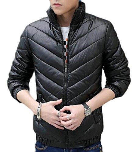 Oggi Piumino uk Caldo Colletto Nero Cappotto Alla Puffer Packable Coreana Mens Solido q0fxBrRwqn
